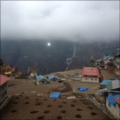 Namche cloud cover