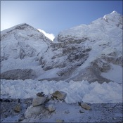 Everest and the icefall