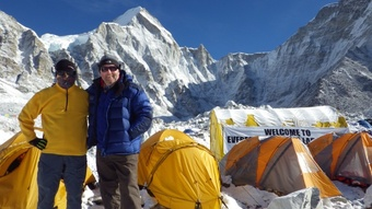 Ken and Mike at Base Camp in 2013 - Photographed by Rob Wymer