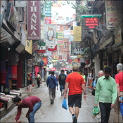 Busy streets of Thamel