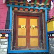 Colourful doors in the monastery
