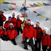 Posing for the 2016 Christmas card at advanced base camp