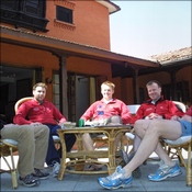 Logistics Team relaxing in the Summit Hotel