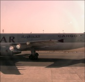 Qatar Cargo aircraft at Doha airport