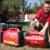 Rhys servicing Honda generator