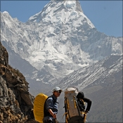Pasang, friend and Ama Dablam