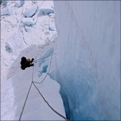 Paul Richards in icefall