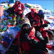Chris Imray and Nigel Hart on the Summit of Everest